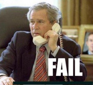 fail george bush al telefono